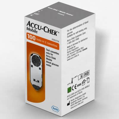 accu chek mobile test cassette 50 strips free accu chek mobile meter