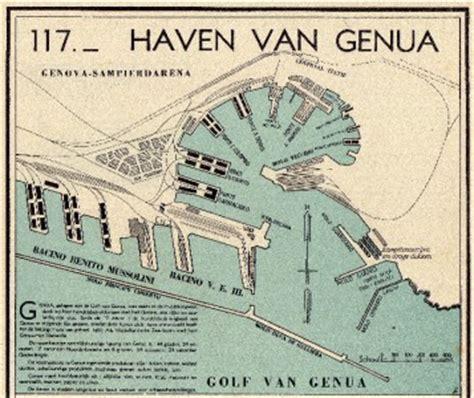 mappa porto di genova map harbor port genoa italy 1939 mappa porto di