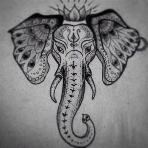 tattoo flash elephants indian elephant head tattoo sketch tattooart tattoopins