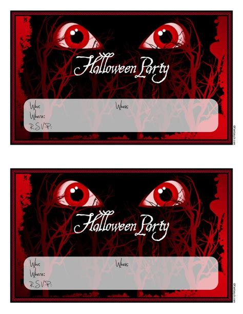printable decorations scary scary invitations to print