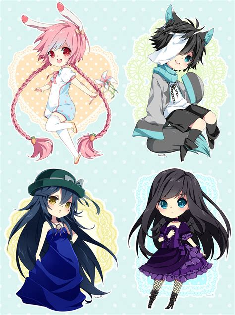 anime batch chibi commission batch 27 by inma on deviantart