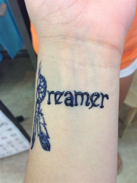 dreamer with a dreamcatcher d henna tattoo henna