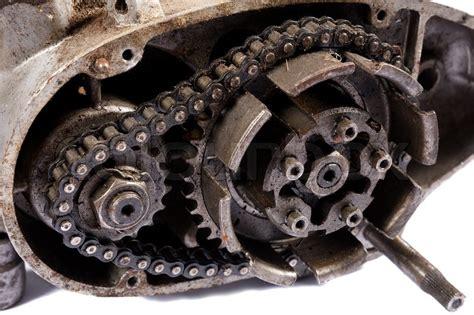Alte Motorrad Motoren by Alte Motorrad Motor Zerlegt Stockfoto Colourbox
