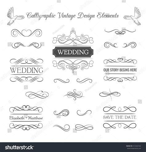 wedding invitation ornaments vector wedding ornaments decorative elements vintage ribbon stock vector 412324162