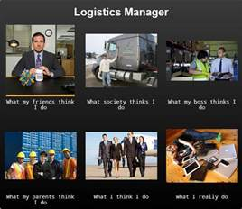Freight Manager by Logistics Manager What I Think I Do What My Thinks I Do What My Friends Think I Do