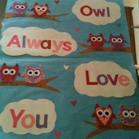 bulletin board ideas for valentines day owl always you s day bulletin board