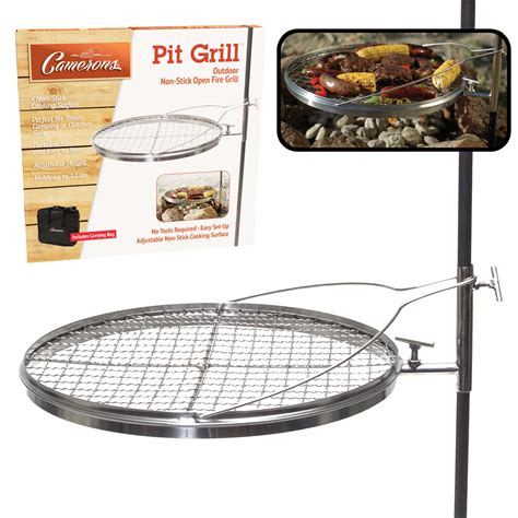 grill top for pit open pit grill from camerons products