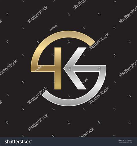 Kansas Address Lookup Ks Or Sk Letters Golden Silver Circle S Shape Stock Vector 327283835