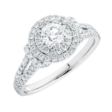engagement ring engagement ring with 1 carat tw of diamonds in 14kt white gold