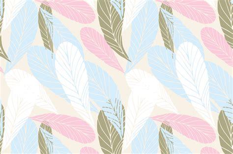 pattern pastel hd 10 simple leaves seamless patterns in p design bundles