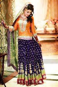 pakistani mehndi dresses 2017 for wedding brides