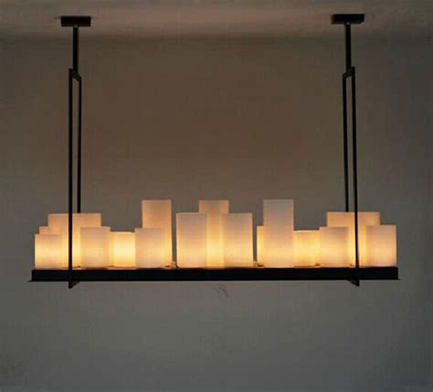 rectangular candle chandelier rectangular chandelier lighting promotion shopping