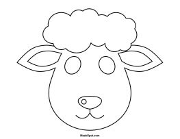 printable lamb mask