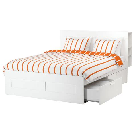 Bed Frame With Storage Ikea Brimnes Bed Frame W Storage And Headboard White Lur 246 Y Standard Ikea