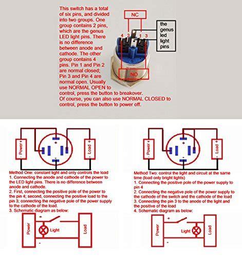 Socket 6 Pin Push Button 16mm Konektor Kabel Metal Switch Connector 16mm led latching switch wiring diagram 39 wiring