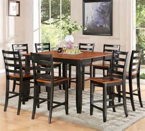 9pc parfait square counter height table and 8 microfiber