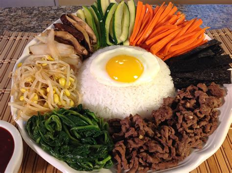 how to cook bibimbap rice vegetables korean food recipes youtube