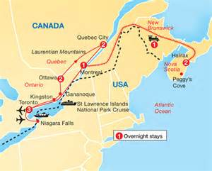 map eastern us and canada cities of eastern canada archers holidays