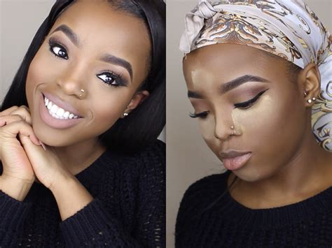 eyeshadow tutorial for dark skin natural nude makeup tutorial how to highlight contour