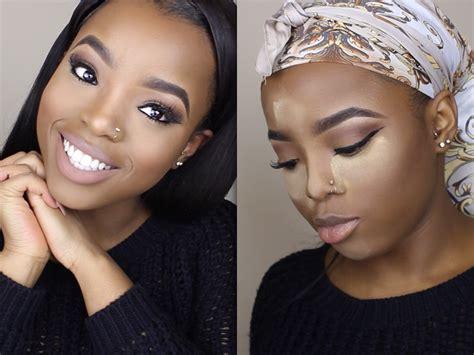 makeup tutorial for dark skin natural nude makeup tutorial how to highlight contour