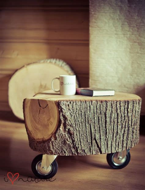 Tree Stump Coffee Table Diy 20 Creative Diy Side Tables Home Design And Interior