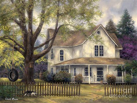 house portrait artist simple country painting by chuck pinson