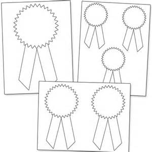 Rosette Template Printable by Printable Award Ribbons Printable Treats