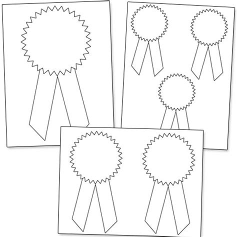 award ribbon template printable participation ribbons printable images