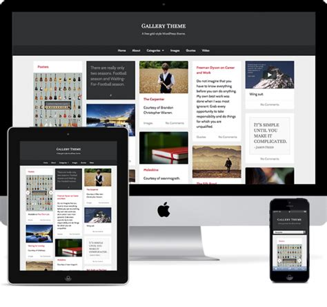 gallery themes for wordpress free gallery a free responsive pinterest like theme for wordpress