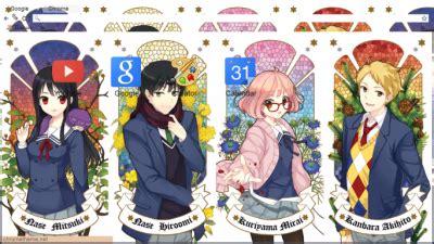 theme google chrome kyoukai no kanata kyoukai no kanata chrome themes themebeta
