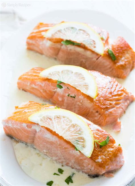vegetables that go with salmon salmon with lemon sauce recipe simplyrecipes