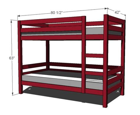bunk bed dimensions build bunk bed free plans woodworking projects plans
