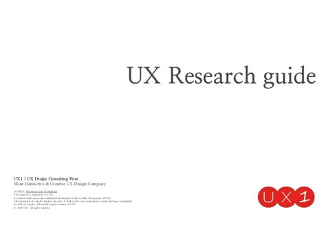 Research Guides Mba Management Consulting by Ux Research Guide Ux1