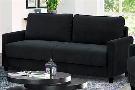 lifestyle solutions rasaun sofa in black best home hq