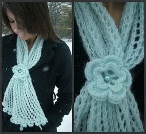 is it harder to knit or crochet flower lace scarf pattern this is knitted and i don t