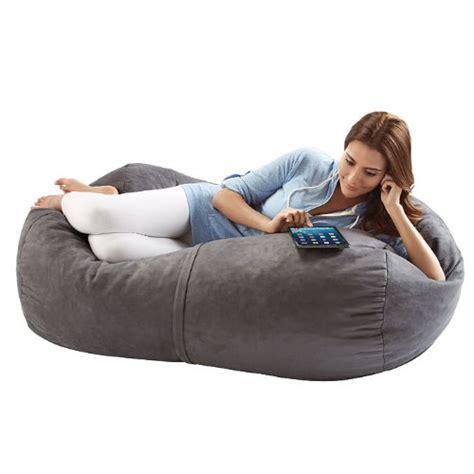 4 foot bean bag lounger jaxx sofa saxx 4 foot bean bag lounger charcoal microsuede