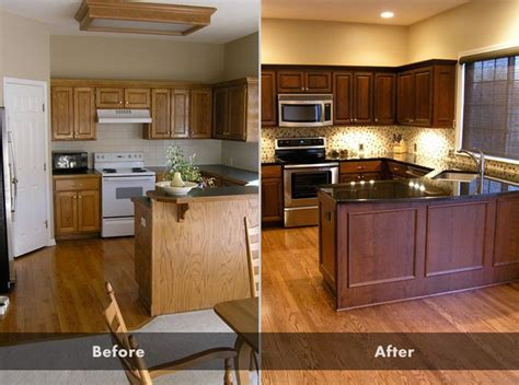 Refinishing Kitchen Cabinets Before And After 258 Best Images About Updating Cabinets Color And Soffit On Pinterest Two Tones White