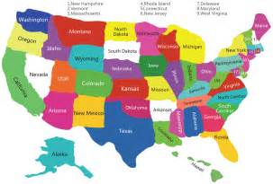 Map us states map america states map states map of the united