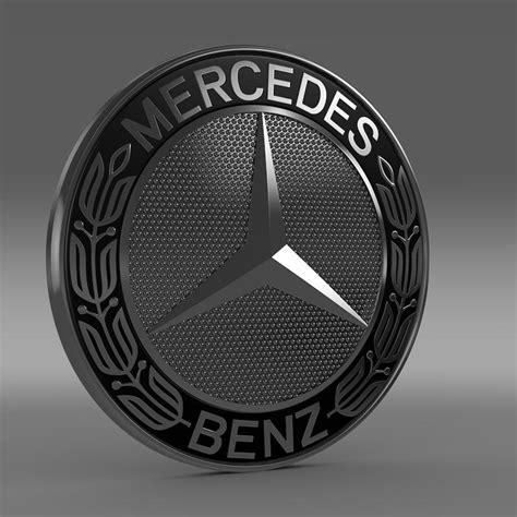 logo mercedes 3d mercedes logo 3d model flatpyramid