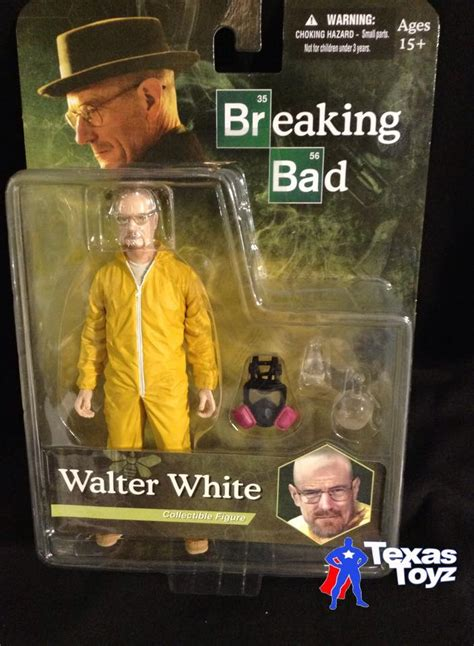 mezco toyz breaking bad walter white hazmat 6in figure yellow suit