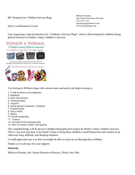 Sponsorship Letter To Company thirty one give back small business a big impact