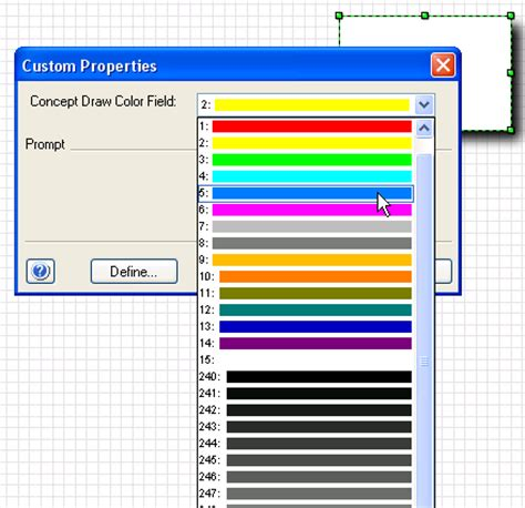 visio color visio 187 choose colors with shape data fields clipart