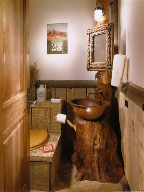 wooden bowl sink ideas for rustic bathroom ideas with