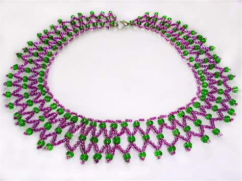 simple seed bead necklace patterns images