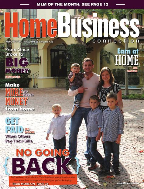 home business connection magazine may 2013 by cutting
