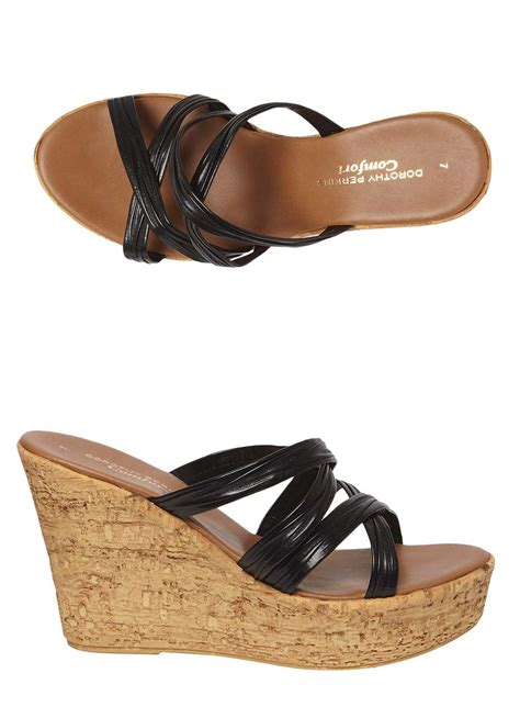 comfort wedge black rosita comfort wedges dorothy perkins united states