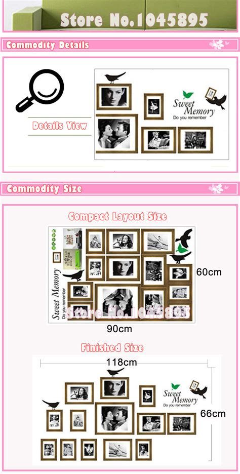 stick photos to wall without damage black photo frames and birds easy to peel and stick
