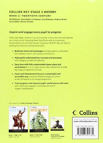 libro collins key stage 3 history book 3 twentieth century di alf wilkinson sue wilkinson jo
