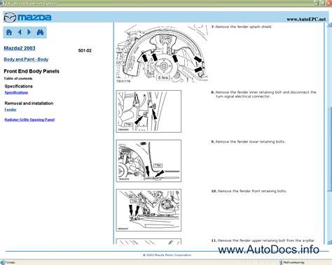 free download parts manuals 2000 mazda b series electronic valve timing mazda 2 repair manual repair manual order download