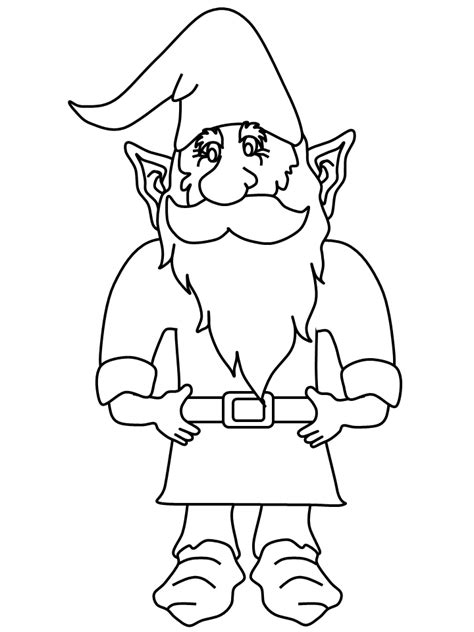 gnome printable coloring pages